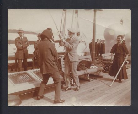 Antique Unpublished Photo Prince Wales King Edward VII Duke Windsor Kendo Japan